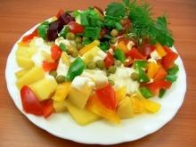 Autumn Salad with Potatoes and Peas