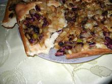Focaccia with Caramelized Onions and Beans