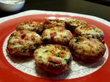 Baked Mushrooms with Bacon and Cheese