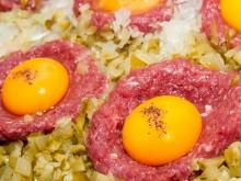 Mince Nests with Eggs