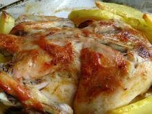 Whole Chicken with Potatoes in the Oven