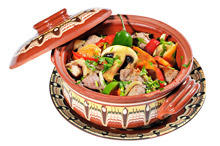 Chicken with Mushrooms and Peppers in a Pot