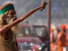 Indian Man has Been Living for 38 Years with Hand Raised to Shiva