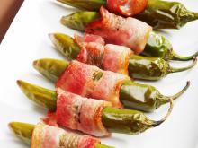 Chili Peppers Wrapped in Bacon
