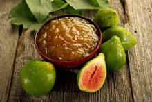 Green Fig Jam with Lemon and Walnuts