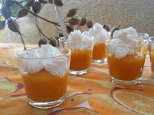 Two-Color Gelatin Cream with Pumpkin