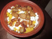 Kachamak with Feta Cheese and Pork Rinds