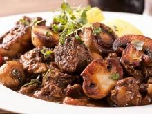 Shaken Kebab with Mushrooms