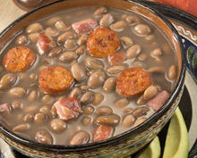 Beans with Bacon and Sausage