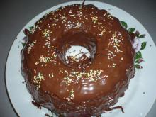 Cake with Cocoa and Chocolate Glaze