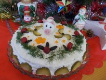 New Year`s Salty Cake