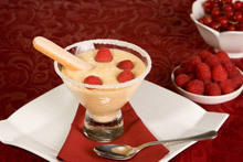 Light Cream with Strawberries