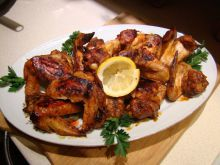 Chicken Wings with Spices and Honey in a Baking Bag