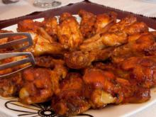 Tasty Chicken Wings with Soy Sauce, Ketchup and Honey