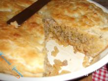 Onion Pie with Leeks, Sauerkraut and Mince