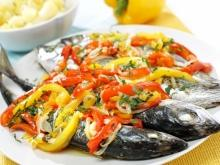 Baked Mackerel with Vegetables