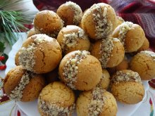 Honey Cookies with Filling and Walnuts