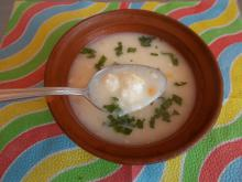 Milk Soup with Feta Cheese