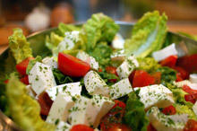 Summer Salad with Marinated Feta Cheese