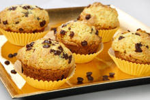 Muffins with Bananas and Chocolate