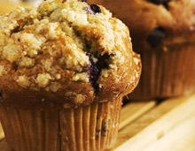 Muffins with Blueberries and Walnuts