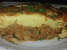 Tasty Moussaka with Fluffy Topping