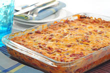 Gratin with Pasta and Ham