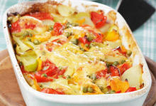 Gratin with Peppers and Potatoes