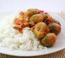 Rice with Brussels Sprouts