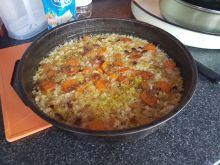 Rice with Carrots and Peppers
