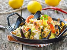 Paella with Chicken and Seafood