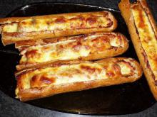 Stuffed Baguettes with Chutney and Vienna Sausages