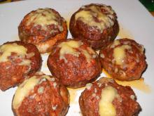 Stuffed Mushrooms with Mince and Cheese