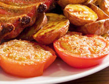 Baked Tomatoes with Cheese