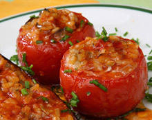 Stuffed tomatoes with grits