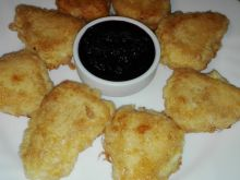 Breaded Cheeses with Blueberry Jam