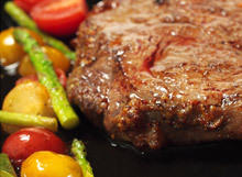 Tender Beef Chops in a Pan