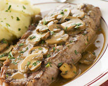 Stewed Steak with Mushrooms