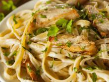 Fettuccine with Chicken Carbonara