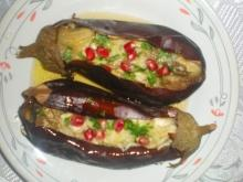 Roasted Eggplant with Garlic and Pomegranate