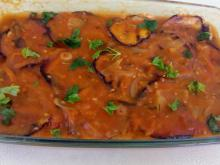 Oven-Baked Eggplant with Tomato Sauce