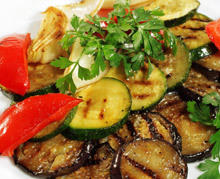 Roasted Eggplant and Peppers