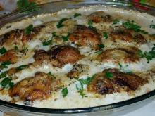 Chicken Legs in Cream Sauce