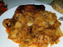 Roasted Chicken with Sauerkraut