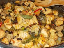 Chinese-Style Chicken with Vegetables and Soy Sauce
