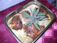 Creamy Chicken with Salvia