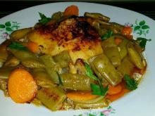Chicken with Green Beans in the Oven