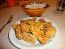 Chicken Bites with Cornflakes and Sesame