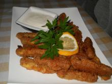 Breaded Chicken Fingers with Garlic Sauce