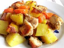 Chicken Fillet with Potatoes and Carrots